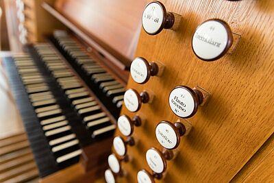 Orgel der Stadtkirche Durlach beim Tag des offenen Denkmals (2018). Fotos: cg