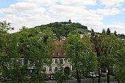 Blick aus dem Pfinzgaumuseum hinüber zum Turmberg. Foto: cg