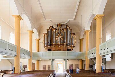 Orgelmusik um 12 in der Stadtkirche Durlach. Foto: cg