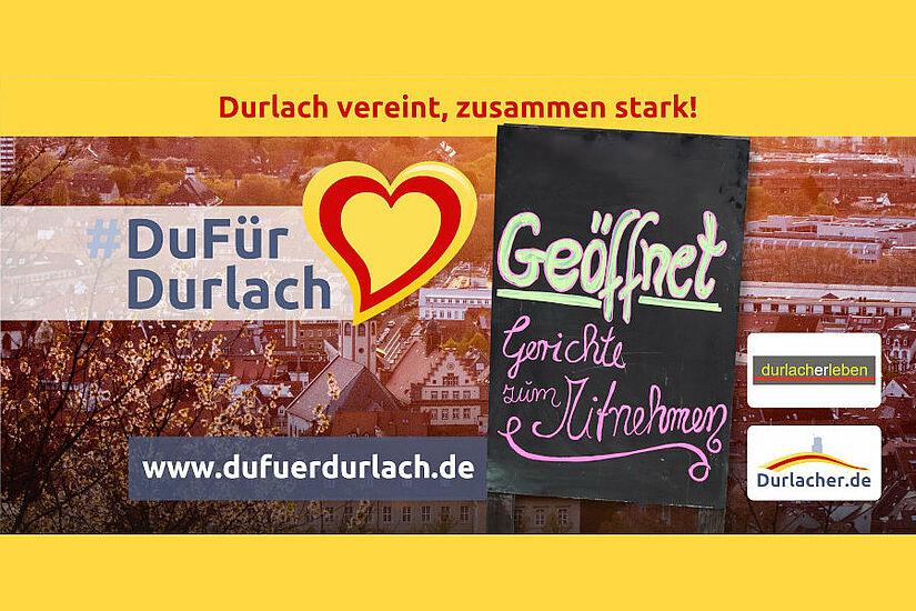 #DuFürDurlach – Gastronomie und Hotelerie unterstützen. Grafik: cg