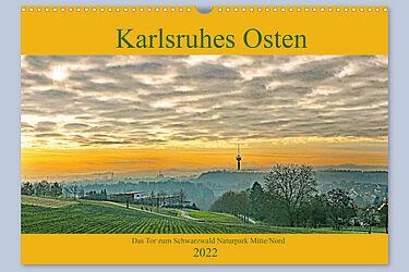 """Kalender gewinnen: """"Karlsruhes Osten 2022"""". Grafik: pm"""