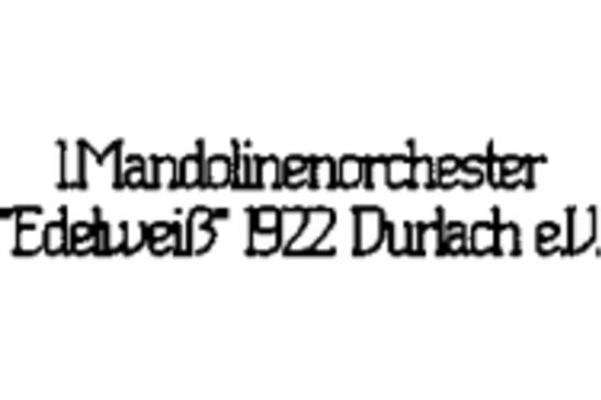 """1. Mandolinenorchester """"Edelweiß"""" 1922 Durlach e.V. -"""