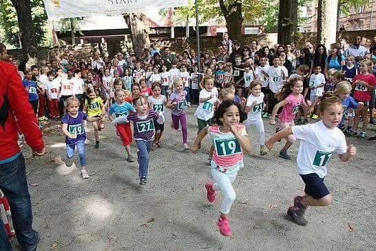 04 Turmberglauf: Kinderlauf - Etwa 300 Kinder in verschiedenen Altersklassen nahmen am Kinderlauf im Schlossgarten teil. (113 Fotos)