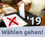 Am 26. Mai 2019 wählen gehen