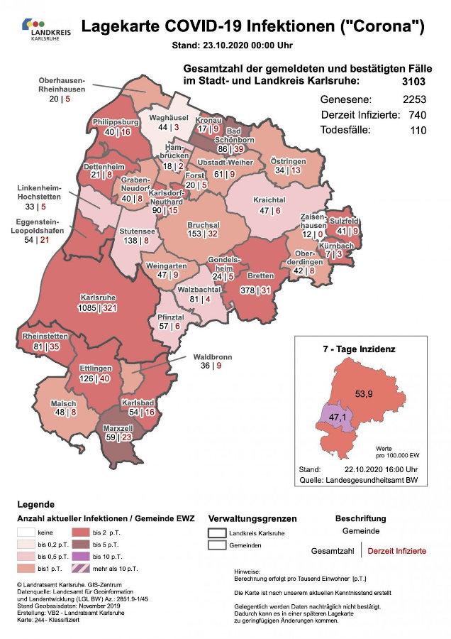 Landkreis Karlsruhe Corona Fallzahlen