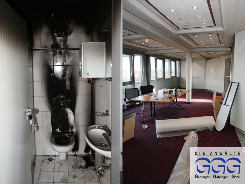 brand und wasserschaden bei ggg kanzlei l uft weiter das online portal f r durlach. Black Bedroom Furniture Sets. Home Design Ideas