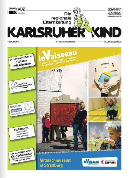 Karlsruher Kind: Ausgabe Februar 2018. Grafik: pm