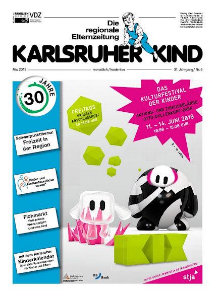 Karlsruher Kind: Ausgabe Mai 2019. Grafik: pm