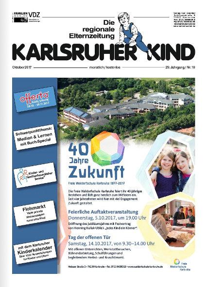 Karlsruher Kind: Ausgabe Oktober 2017. Grafik: pm