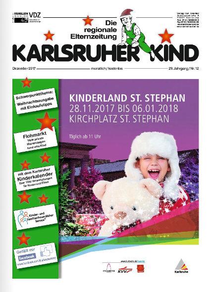 Karlsruher Kind: Ausgabe Dezember 2017. Grafik: pm
